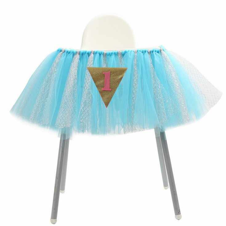 Новый стиль 1 шт. пачка Таблица юбки стульчик декор, посуда юбка Дети День рождения украшения душа ребенка способствует
