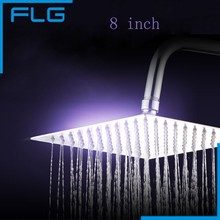 8 inch perfect new square  bathroom 304 stainless steel rain shower head stainless steel black bathroom ultrathin 2 mm rain shower head 8 10 12 inch wall