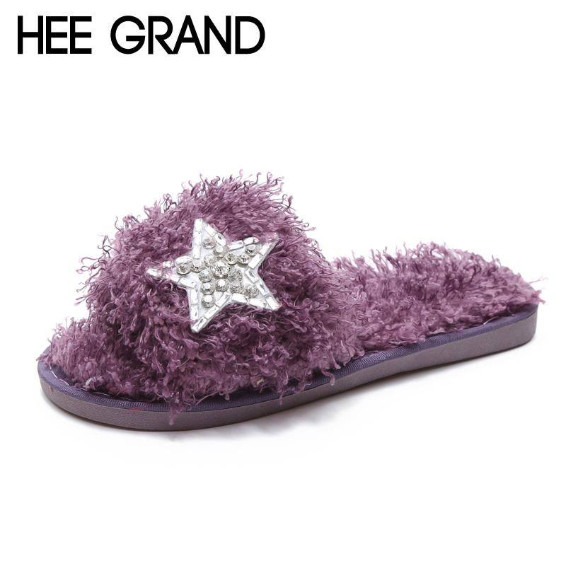 HEE GRAND 2017 New Slippers Platform Sweet Solid Indoor Slides Spring Casual Flats Shoes Woman Slip On Creepers XWT913 wedges gladiator sandals 2017 new summer platform slippers casual bling glitters shoes woman slip on creepers