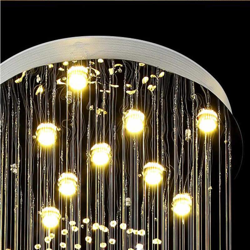 Спиральный хрустальный светильник люстры с длинными хрустальными подвесками свет блеск де Кристал для лестницы, лестницы, фойе Хрустальная лестница лампа