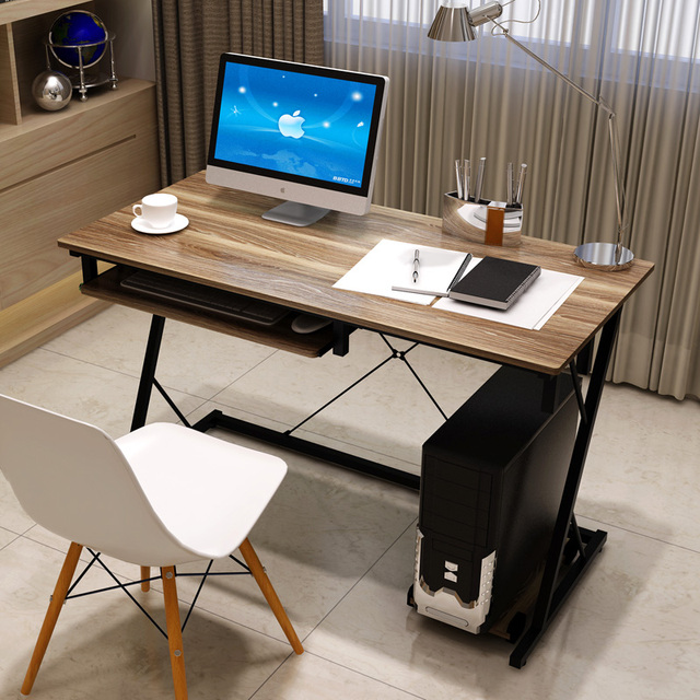 1 2 grand ordinateur de bureau ordinateur portable de bureau simple minimaliste vert table de la. Black Bedroom Furniture Sets. Home Design Ideas