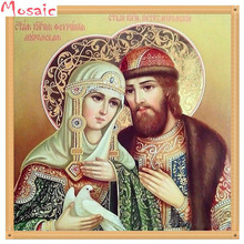 DIY 5D Diamond Mosaic Religious Icon Crystal full Round/square Drill Diamond Painting Cross Stitch Kit Diamonds Embroidery Home new 5d full square drill diamond painting mosaic religious jesus icon diy diamond embroidery cross stitch crafts kit home decor