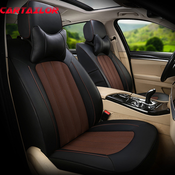 CARTAILOR Car Styling Seat Cover Set Cowhide & Artificial Leather Seats Supports for Jeep Patriot Car Seat Covers & Accessories
