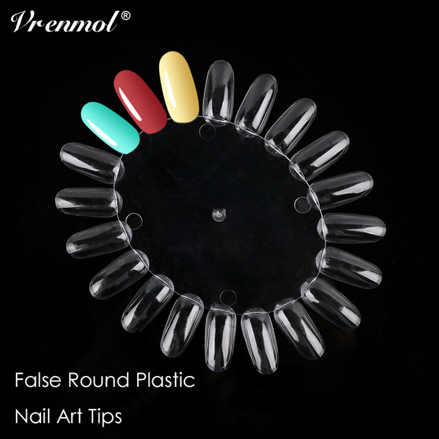 Vrenmol 10pcs/lot Nail Tips Color Card Manicure Nail Art Practice ...