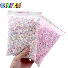 Big Bag Addition for slime Warm Color Snow Mud Particles Accessories Tiny Foam Beads Slime Balls Supplies Charms(China)