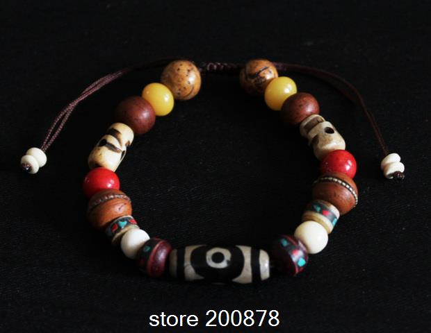 Bb 123 Designer Original Tibet Multi Semi Precious Beaded Bracelet Dzi Beads