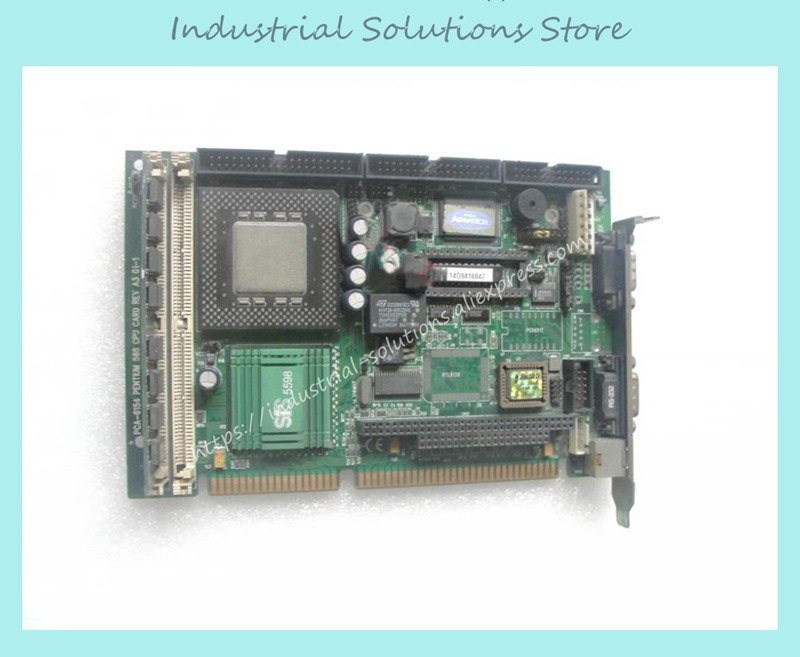 IPC motherboard and a half long 586CPU card PCA-6154 A3 100% tested perfect quality hpu6900pic 433 ib 2u ipc card 02027 12030 80 100% test good quality
