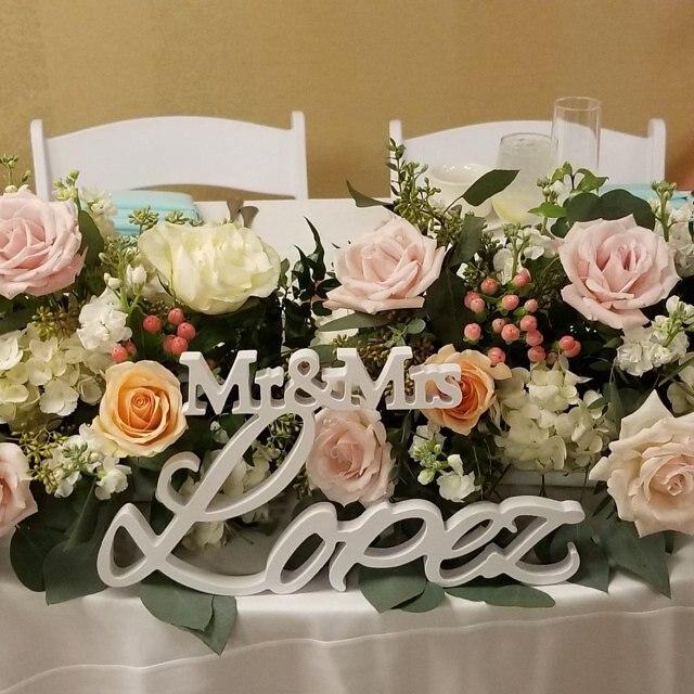 Signe de mariage personnalisé famille Mr & Mrs nom de famille personnalisé signe de mariage décoration de mariage peinture au diamant