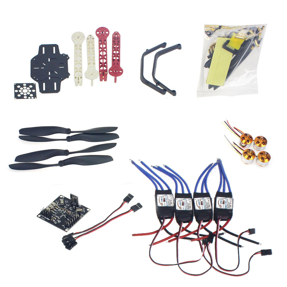 Rc zangão quadrocopter aircraft kit f330 multicopter quadro kk xcopter v2.9 controle de vôo sem transmissor BatterF02471-K