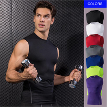 E-BAIHUI Summer Quickly Dry Compression Vest Mens Running Training Tank Top Fitness Sleeveless Tights Men Tops Vests