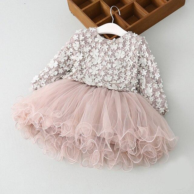 431e3d5e1 Spring Autumn Princess Dresses For Girl Fashion Long Sleeves Floral ...