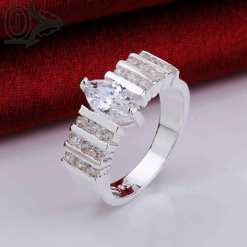 Wholesale Silver-plated Ring,Silver Fashion Jewelry,Women&Men Gift Three Rows Stone Europe CZ Silver Finger Rings