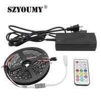 SZYOUMY DC 5V 5M 60 Leds/M WS2812 Smart LED Strip 5050 RGB Dream Color Pixel IC Digital Individually Addressable Led Light