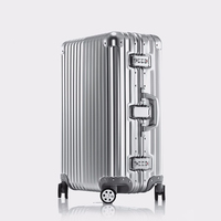 Aluminum Frame PC ABS Rolling Luggage 20 24 26 29 Inch Crash Proof Truckle Suitcase Castor