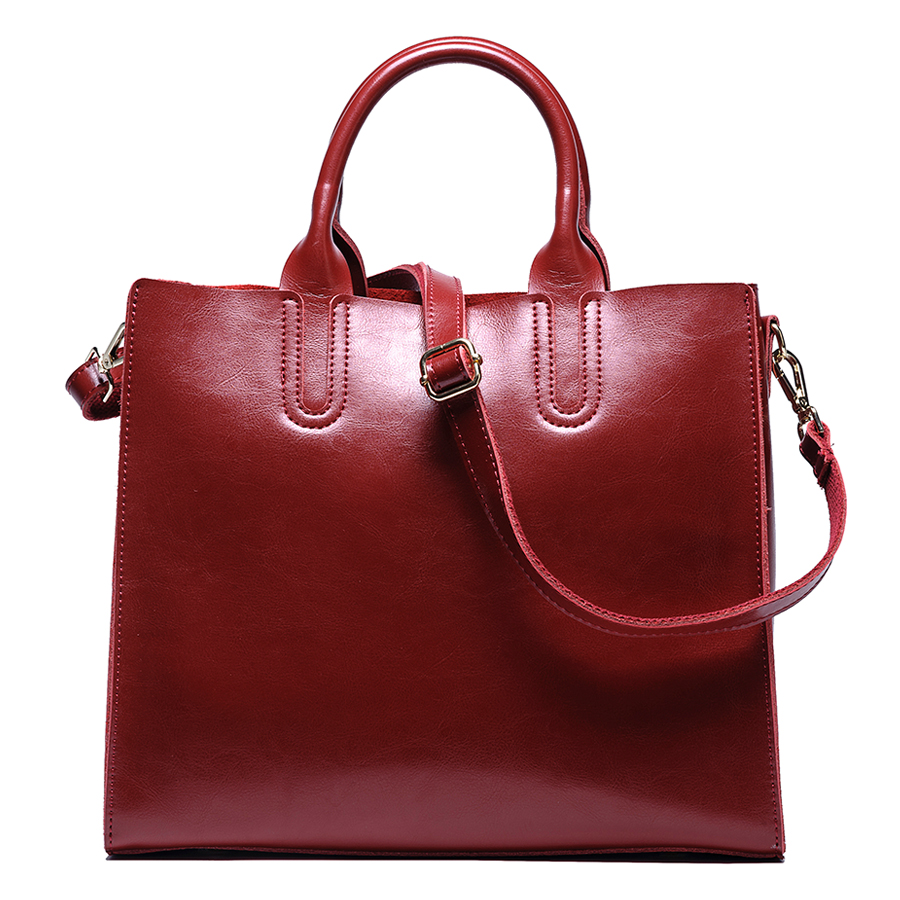 Female genuine leather handbags large capacity women messenger bags real leather bags first layer leather shoulder