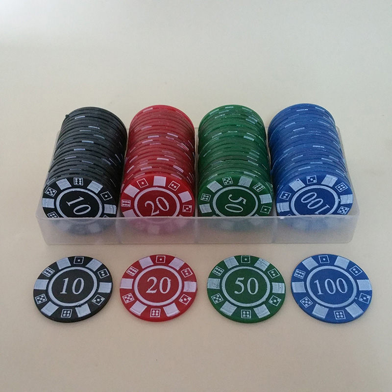 Hot 80PCS/SET Poker Chips 4g/pcs Environmental ABS Colorful Casino Chips Texas Cheap Poker Chips With Free Shipping