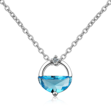 Everoyal Vintage Silver 925 Girls Choker Necklace Jewelry Female Fashion Crystal Round Pendant Party Accessories