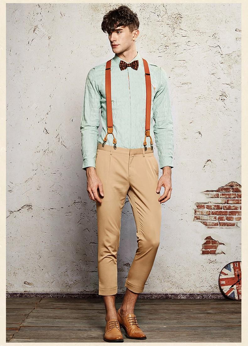 эрл джоэл высокого качества 2015 мужчин весна-осень повседневная ретро супер тонкий костюмы пят штаны тощий костюм штаны модные 5 видов цветов
