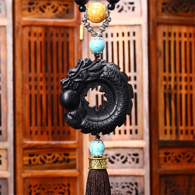 Luxury Car Styling Dragon Pendant Auto Interior Rear View <font><b>Mirror</b></font> Hanging Ornament Car Decoration Accessories