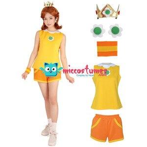 Image 3 - Mario Tennis Princess Daisy Cosplay Costume with Crown