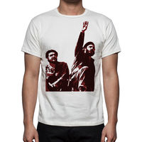 Gildan Good Quality Brand Cotton Shirt Summer Style Cool Shirts Fidel Castro Che Guevara Cuba Men