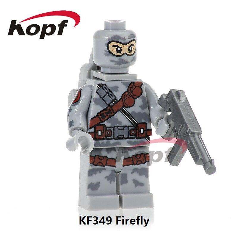 KF349 Super Heroes Gi Joe Series Firefly Power Girl Serpentor Stg. Slaughter Building Blocks Learning Model Children Gift Toys