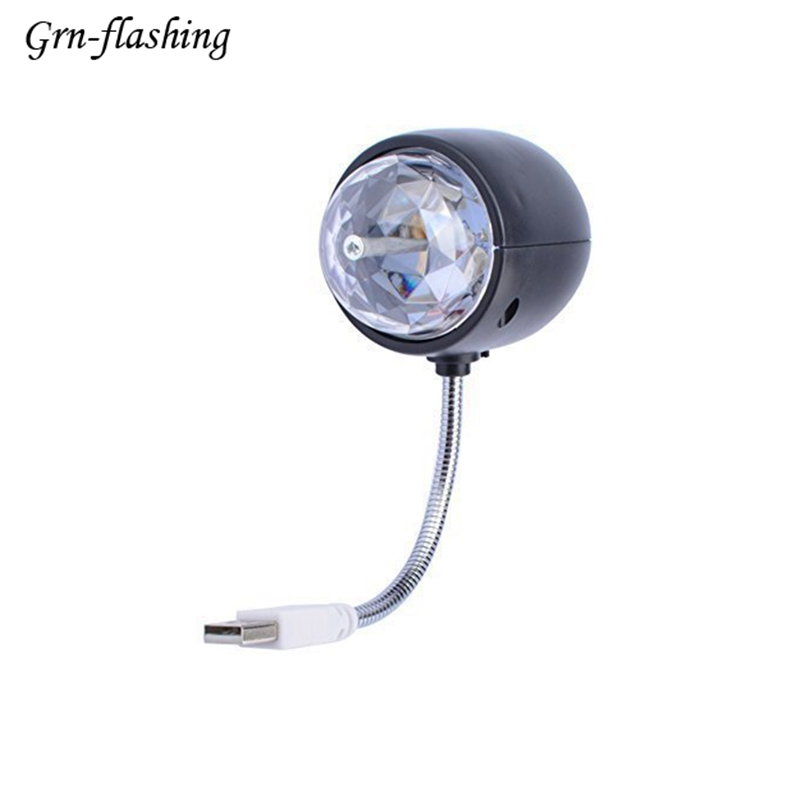 DC 5V 3W Mini usb Stage Light Table Lamp Flexible Adjustable Cable Arm Night light white RGB Magic Ball Projector Disco Light