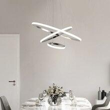 Modern led pendant light circular Aluminum lights for dining living room decorative ring fixtures overhead home pendant lamp