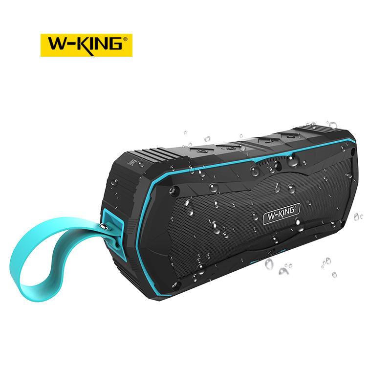 W-KING 6W Portable Outdoor 360 Sound Blue tooth Speaker with Radio for Bicycles Without Worrying About Audio Challenges niorfnio portable 0 6w fm transmitter mp3 broadcast radio transmitter for car meeting tour guide y4409b