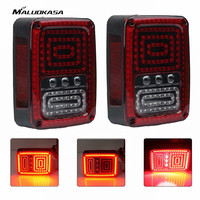 MALUOKASA 2PCs US Plug Rear LED Reverse Light For Jeep JK Wrangler 07 17 SUV DRL