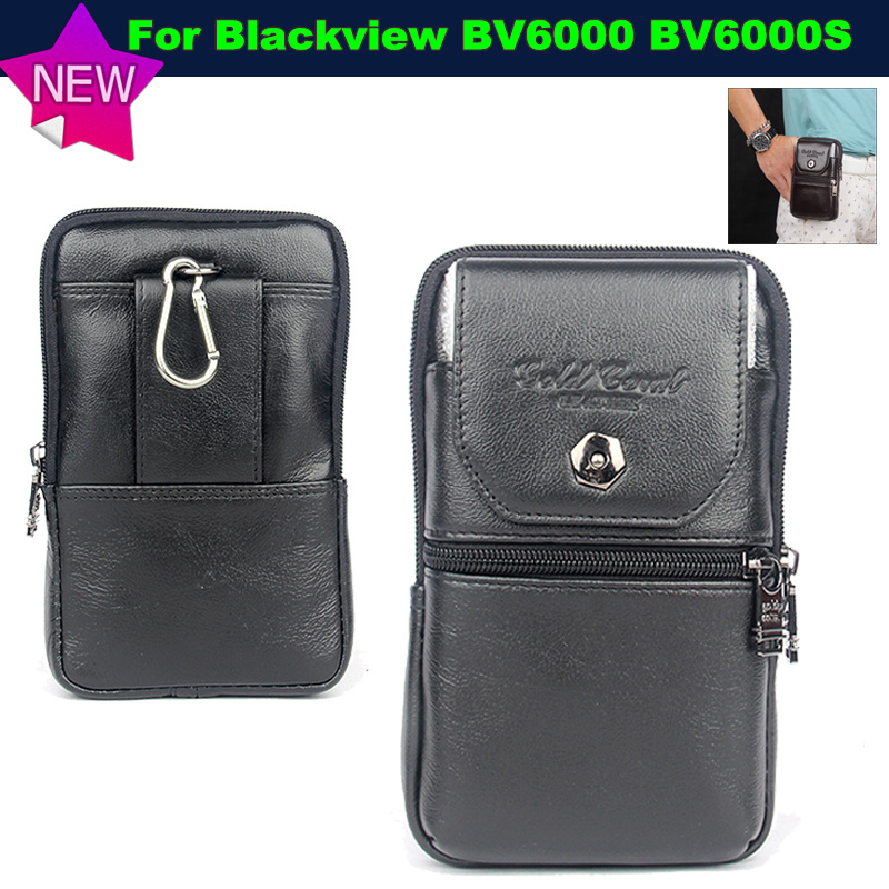 For Blackview BV6000S Case -Belt Clip Pouch Waist Purse Genuine Leather Case Cover for Blackview BV6000 Phone Bags Free Shipping