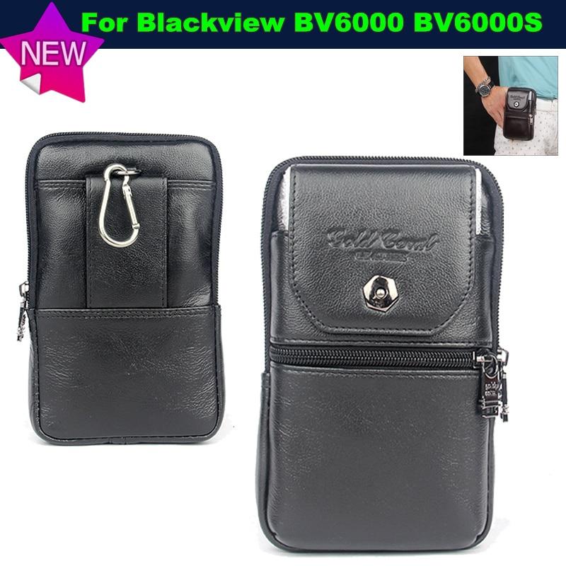 imágenes para Para blackview bv6000s case bolsa de cinturón de clip monedero de la cintura de cuero genuino case cubierta para blackview bv6000 bolsos del teléfono envío gratis