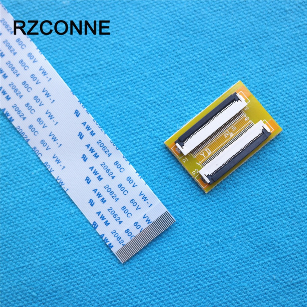 40Pin To 40Pin ZIF 0.5mm Connector Adapter With Extension FFC Cable 100-600mm Can Choose New 2set