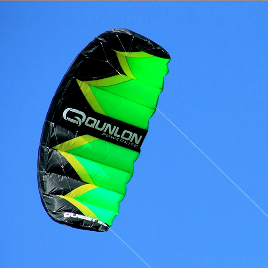 2sqm Stunt Kite Dual Line Traction Kite Flying for Kiteboarding Kitesurfing Training Beginner