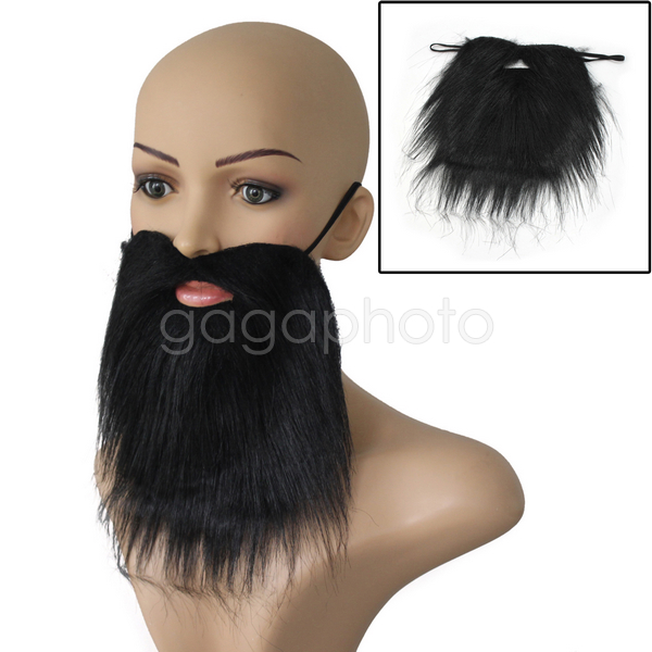 Us 1 41 15 Off Black Facial Hair Beard Fake Moustache Halloween Costume Fancy Dress Party Chic In Party Diy Decorations From Home Garden On