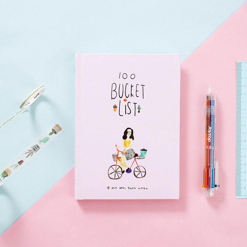 Forgotten List Handbook Notepad  Planner Notebook School Office Supplies Cute Washi Tape+Ballpoint Pen+Notebook Stationery Gifts wagner handbook