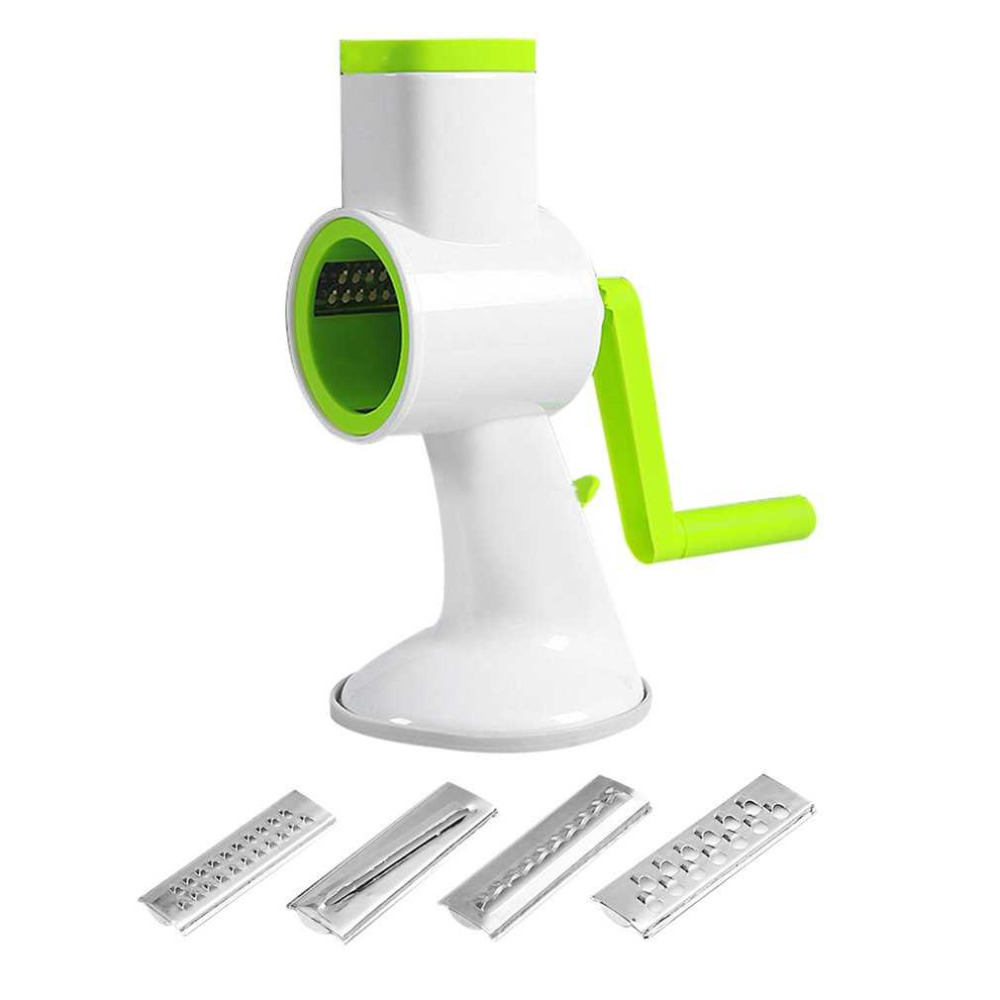 4 in 1 Vegetables Cutter Multifunctional Manual Cutting Artifact Hand Push Rotary Shredder Device Kitchen Gadget Accessories multi function hand shredder for fruits and vegetables