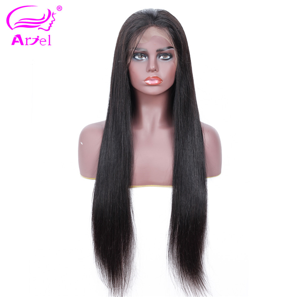 Brazilian Lace Front Human Hair Wigs For Black Women Wigs With Baby Hair Natural Color Remy