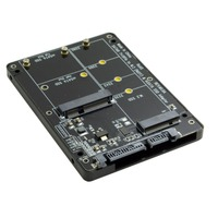 2 in 1 Combo M.2 NGFF B key & mSATA SSD to SATA 3.0 Adapter card Converter Case Enclosure
