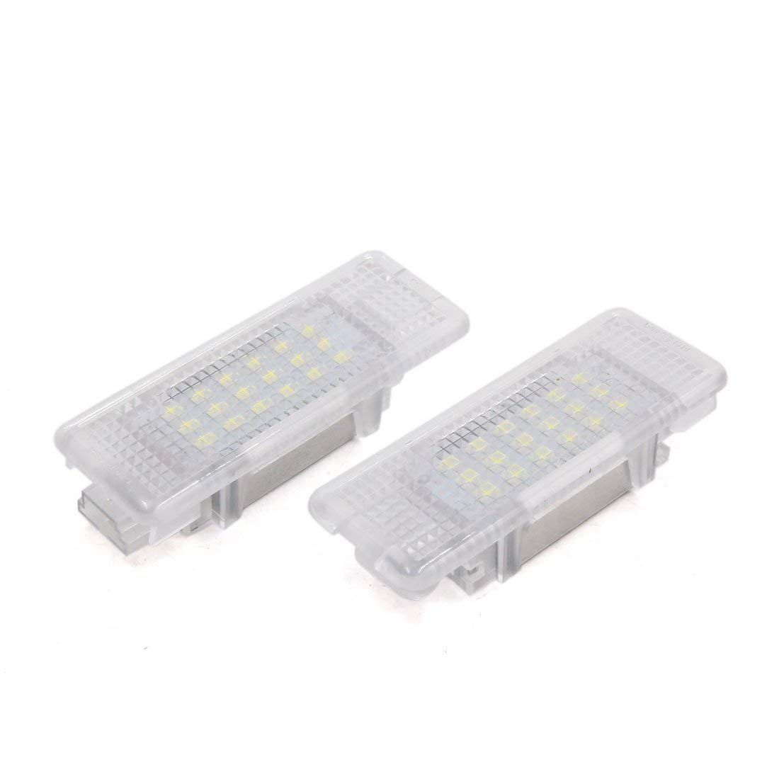 uxcell 2pcs 12 24V Car White LED Door Welcome Shadow Projector Courtesy Light for BMW