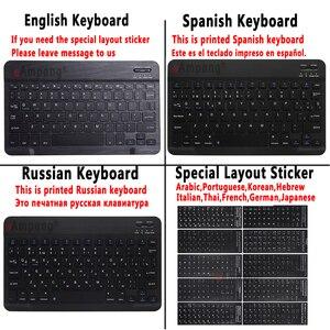 Image 5 - الإنجليزية الإسبانية الروسية بلوتوث لوحة المفاتيح حالة لهواوي Mediapad M5 لايت 10 10.1 BAH2 W09 BAH2 L09 BAH2 W19 غطاء فوندا + هدية