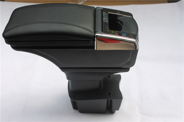 HOT! Armrest storage box /Storage Box Armrest Center Console For KIA K2/RIO 2012-2014  Only fit for Low-equiped model! high quality black storage box armrest center console for ford focus 2012 2014 only fit for low equiped model
