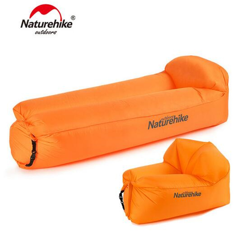 NatureHike Outdoor Waterproof Inflatable Lounger Beach Mat Camping Mat Air Sofa Foldable Sleeping Mattress Portable norent brand waterproof inflatable mattress camping beach picnic air sofa outdoor swimming pool lazy bed folding portable chair