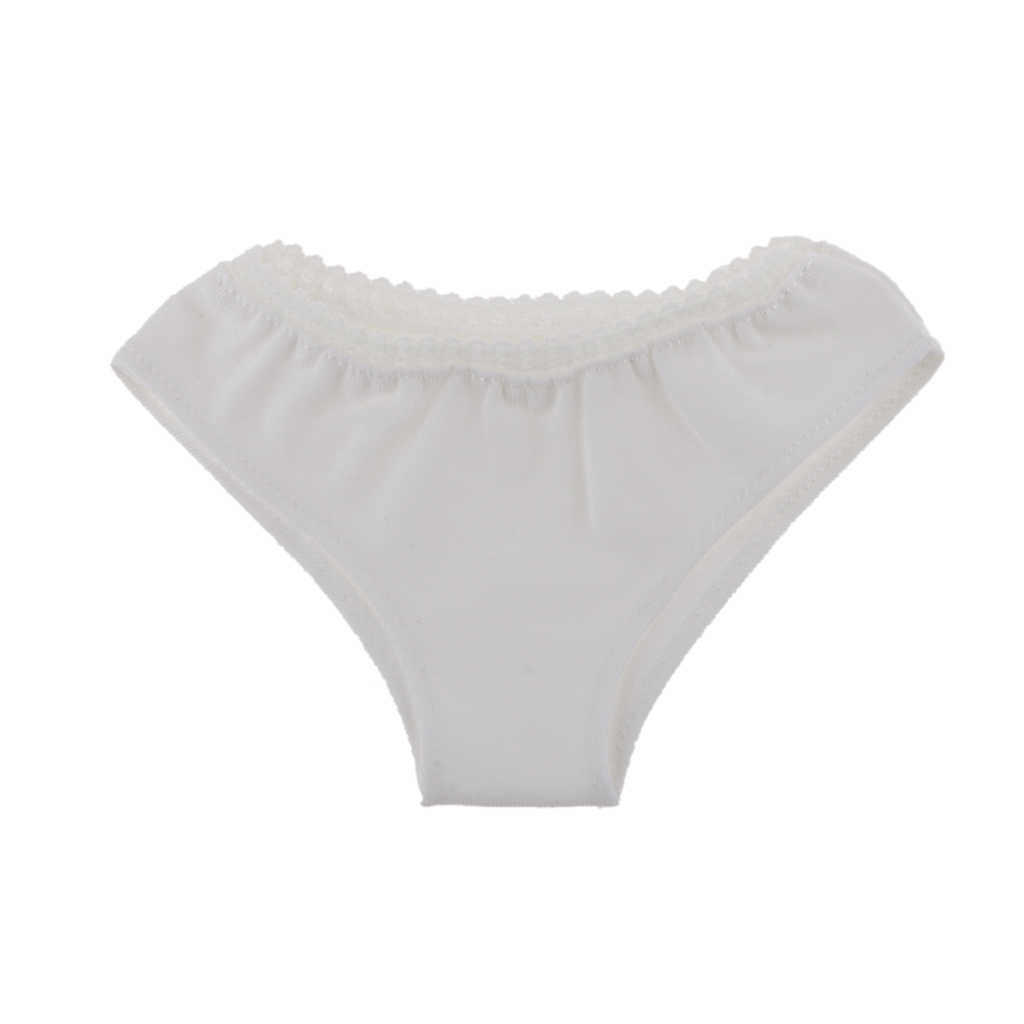 Nowości akcesoria dla lalek 1/3 1/4 1/6 solidny biały bielizna majtki dla BJD SD Dollfie lalki dla dzieci ubrania prezent urodzinowy dla niej