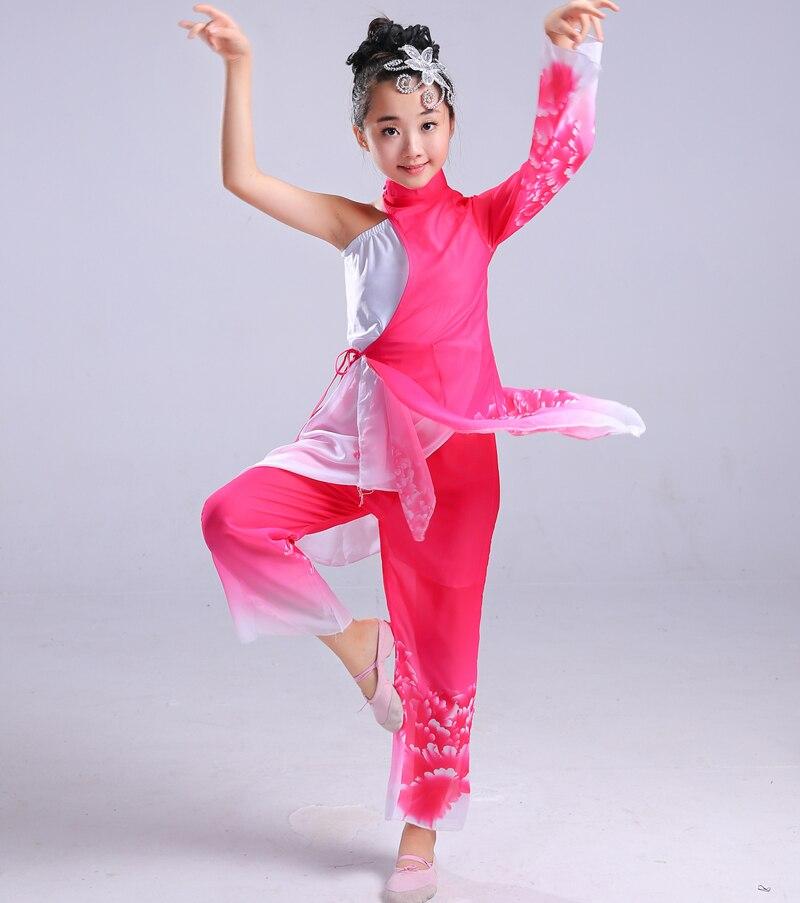 Niño clásico Baile folclórico chino yangko danza ropa para chica ...