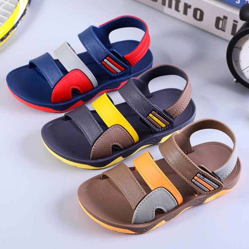 קיץ ילדים נעליים לפעוטות בני סנדלי אורטופדי ספורט עור מפוצל תינוק בני מגניב סנדלי נעליים