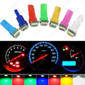 100pcs Car Interior LED T5 led 1 SMD 5050 led Dashboard Wedge led t5 12v Car Light Bulb Lamp Yellow/Blue/green/red/white #CA1259