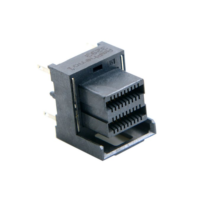 Mini SAS HD High Density SFF-8643 Female Socket Receptacle Board Mount Vertical DIP SMT Type Amphenol 10pcs mini hdmi 1 4 type c female socket receptacle board mount smt type with pcb for hdtv diy cable