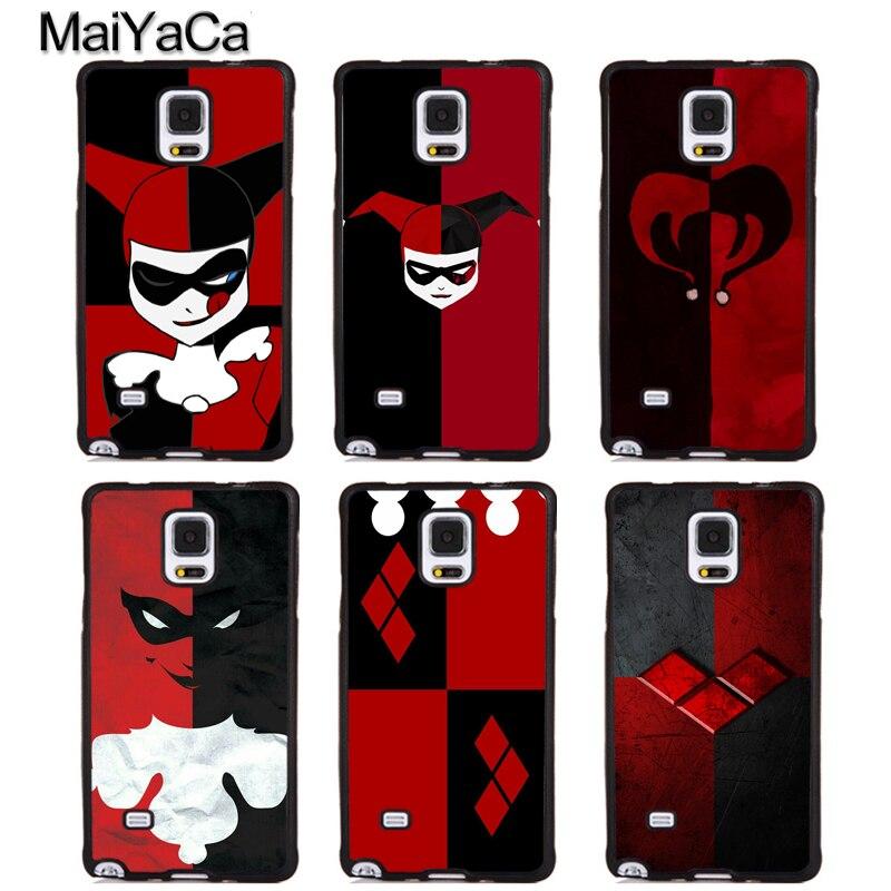 MaiYaCa Harley Quinn Cute Clown Soft TPU Phone Case For Samsung Galaxy S5 S6 S7 edge plus S8 S9 plus Note 4 5 8 Back Cover Coque
