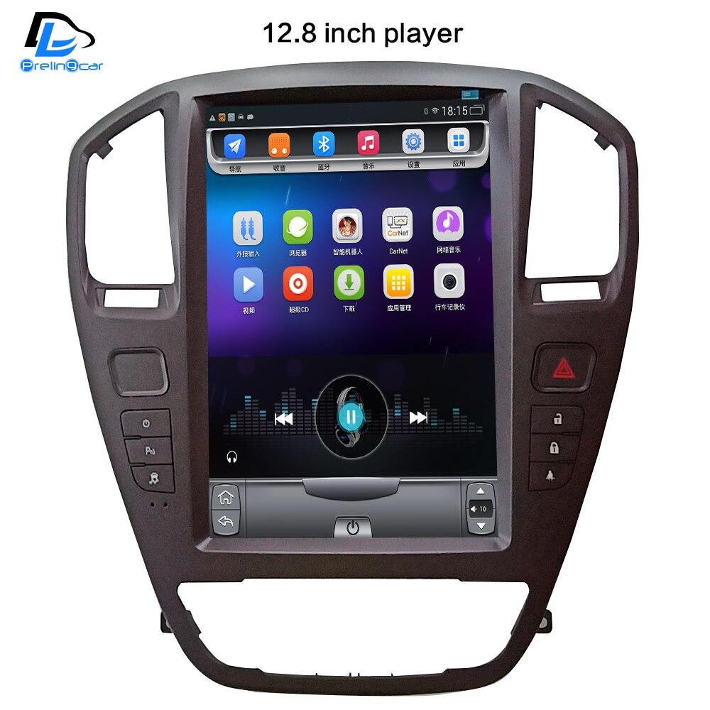 Lecteur de radio vidéo multimédia gps de voiture android écran Vertical 32G ROM dans le tableau de bord pour opel insignia voiture navigaton stéréo